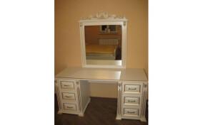 Туалетний столик Корона двотумбовий з дзеркалом