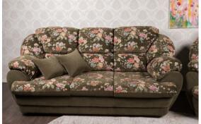М'який диван тримісний в тканині Аляска