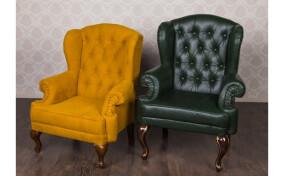 Мягкое кресло кожаное Вальтер