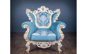 Кресло мягкое в ткани Барокко Мадонна