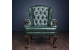 Кресло мягкое кожаное Вальтер Люкс