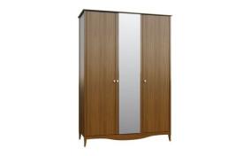 Шкаф на деревянных ножках София 3-х дверный c зеркалом