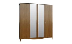 Шкаф на деревянных ножках София 4-х дверный c зеркалом