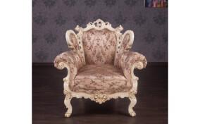 М'яке крісло в тканині Белла в стилі Бароко