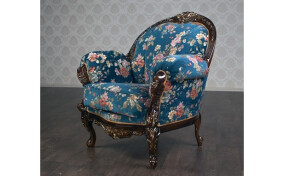 Кресло в ткани Ника стиль Рококо