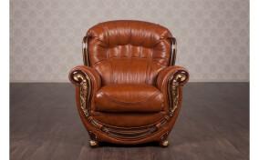 Мягкое кожаное кресло Джове