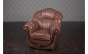 Кожаное мягкое кресло Мальта
