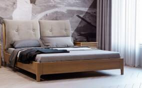 Кровать с мягким изголовьем Лилу