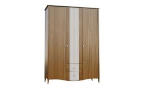 Шкаф на деревянных ножках София 3-х дверный с ящиками